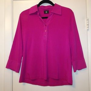 Bogner 3/4 Sleeve V-Neck Top | Purple | XL/14